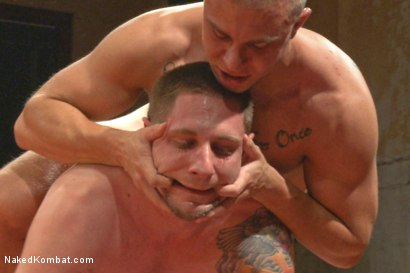 Photo number 10 from Naked Kombat's Summer Smackdown Tournament - Match 2  shot for Naked Kombat on Kink.com. Featuring Eli Hunter and Jay Rising in hardcore BDSM & Fetish porn.