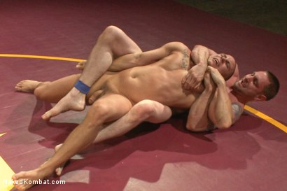 Photo number 3 from Naked Kombat's Summer Smackdown Tournament - Match 2  shot for Naked Kombat on Kink.com. Featuring Eli Hunter and Jay Rising in hardcore BDSM & Fetish porn.