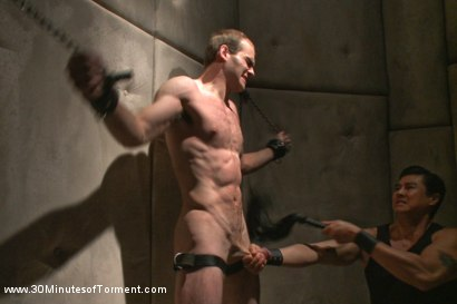 Photo number 3 from Straight stud John Smith gets beaten, choked and made to cum shot for 30 Minutes of Torment on Kink.com. Featuring Jonah Marx in hardcore BDSM & Fetish porn.