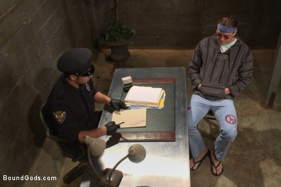 Photo number 1 from Officer Maguire and his new prison bitch shot for Bound Gods on Kink.com. Featuring Connor Maguire and Kip Johnson in hardcore BDSM & Fetish porn.