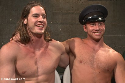 Photo number 15 from Officer Maguire and his new prison bitch shot for Bound Gods on Kink.com. Featuring Connor Maguire and Kip Johnson in hardcore BDSM & Fetish porn.