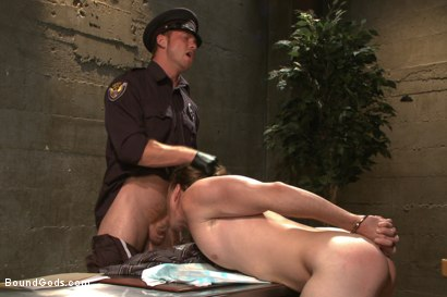 Photo number 3 from Officer Maguire and his new prison bitch shot for Bound Gods on Kink.com. Featuring Connor Maguire and Kip Johnson in hardcore BDSM & Fetish porn.