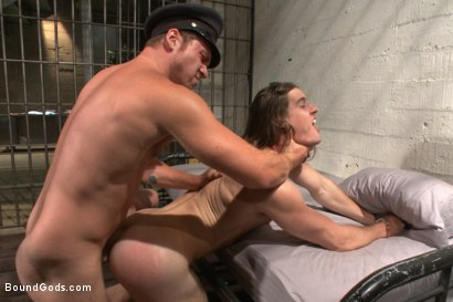 Photo number 7 from Officer Maguire and his new prison bitch shot for Bound Gods on Kink.com. Featuring Connor Maguire and Kip Johnson in hardcore BDSM & Fetish porn.