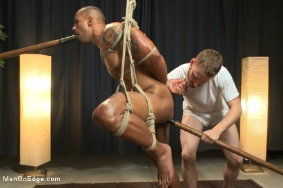 Photo number 11 from Muscle hunk gets a four hand massage with happy and unhappy endings shot for Men On Edge on Kink.com. Featuring Robert Axel in hardcore BDSM & Fetish porn.