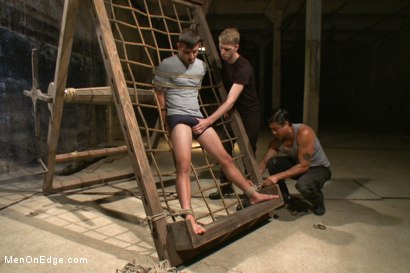 Photo number 2 from Edging Two Studs! shot for Men On Edge on Kink.com. Featuring Scott Cage and Corbin Dallas in hardcore BDSM & Fetish porn.