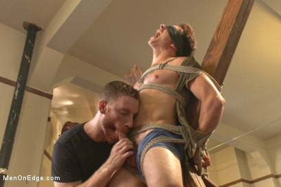 Photo number 10 from Edging Two Studs! shot for Men On Edge on Kink.com. Featuring Scott Cage and Corbin Dallas in hardcore BDSM & Fetish porn.