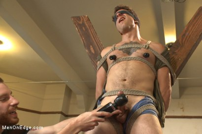 Photo number 12 from Edging Two Studs! shot for Men On Edge on Kink.com. Featuring Scott Cage and Corbin Dallas in hardcore BDSM & Fetish porn.