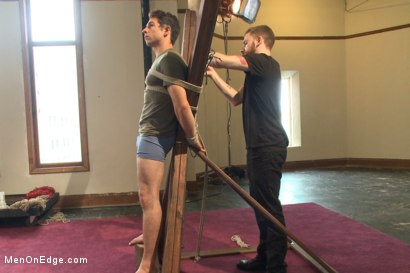 Photo number 13 from Edging Two Studs! shot for Men On Edge on Kink.com. Featuring Scott Cage and Corbin Dallas in hardcore BDSM & Fetish porn.