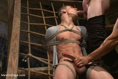 Photo number 5 from Edging Two Studs! shot for Men On Edge on Kink.com. Featuring Scott Cage and Corbin Dallas in hardcore BDSM & Fetish porn.
