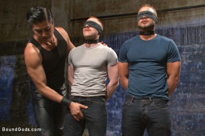 Photo number 1 from Are you a happy cow or a sad cow? - Live Show shot for Bound Gods on Kink.com. Featuring Van Darkholme, Trenton Ducati, Damien Moreau and Brock Avery in hardcore BDSM & Fetish porn.