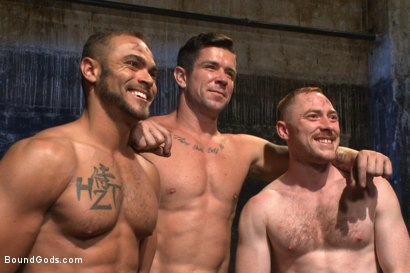 Photo number 15 from Are you a happy cow or a sad cow? - Live Show shot for Bound Gods on Kink.com. Featuring Van Darkholme, Trenton Ducati, Damien Moreau and Brock Avery in hardcore BDSM & Fetish porn.