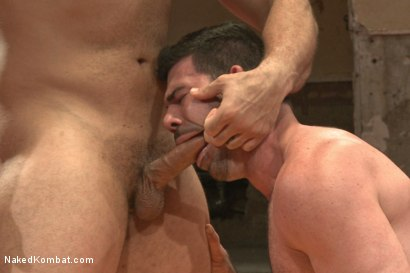 Photo number 10 from Naked Kombat's Summer Smackdown Tournament - Elimination Round 4 shot for Naked Kombat on Kink.com. Featuring Billy Santoro and Marcus Ruhl in hardcore BDSM & Fetish porn.