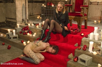 Photo number 4 from Forbidden Fruit: A Femdom Sounding Ritual  shot for Divine Bitches on Kink.com. Featuring Mona Wales and Owen Gray in hardcore BDSM & Fetish porn.