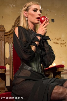 Photo number 3 from Forbidden Fruit: A Femdom Sounding Ritual  shot for Divine Bitches on Kink.com. Featuring Mona Wales and Owen Gray in hardcore BDSM & Fetish porn.