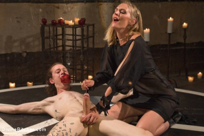 Photo number 15 from Forbidden Fruit: A Femdom Sounding Ritual  shot for Divine Bitches on Kink.com. Featuring Mona Wales and Owen Gray in hardcore BDSM & Fetish porn.
