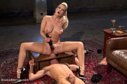 Photo number 8 from Only A Woman Is Strong Enough To Control This Young Cock shot for Divine Bitches on Kink.com. Featuring Cherry Torn and Sam Truitt in hardcore BDSM & Fetish porn.