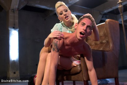 Photo number 11 from Only A Woman Is Strong Enough To Control This Young Cock shot for Divine Bitches on Kink.com. Featuring Cherry Torn and Sam Truitt in hardcore BDSM & Fetish porn.