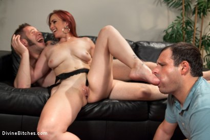 Photo number 15 from Suck my feet cuck husband while this stud fucks me! shot for Divine Bitches on Kink.com. Featuring Bella Rossi, Wolf Hudson and Marcelo in hardcore BDSM & Fetish porn.