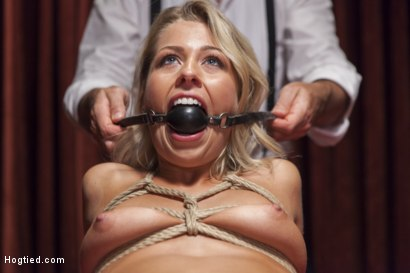 Photo number 11 from Hot Blonde with Petite Pussy Bound and Banged in Pool Hall shot for Hogtied on Kink.com. Featuring Zoey Monroe in hardcore BDSM & Fetish porn.