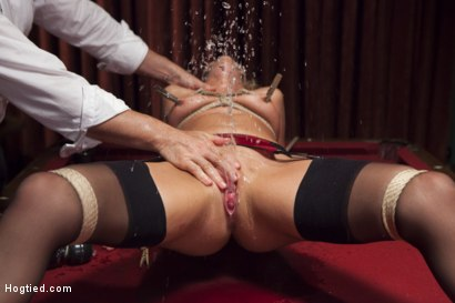 Photo number 12 from Hot Blonde with Petite Pussy Bound and Banged in Pool Hall shot for Hogtied on Kink.com. Featuring Zoey Monroe in hardcore BDSM & Fetish porn.