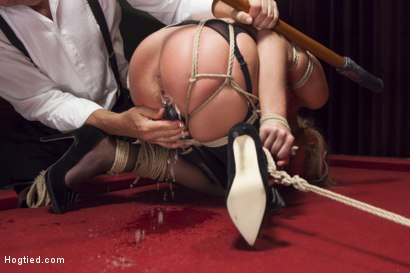 Photo number 10 from Hot Blonde with Petite Pussy Bound and Banged in Pool Hall shot for Hogtied on Kink.com. Featuring Zoey Monroe in hardcore BDSM & Fetish porn.