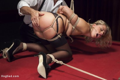 Photo number 9 from Hot Blonde with Petite Pussy Bound and Banged in Pool Hall shot for Hogtied on Kink.com. Featuring Zoey Monroe in hardcore BDSM & Fetish porn.