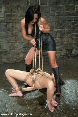 Photo number 4 from Sandra Romain and Annie Cruz shot for Water Bondage on Kink.com. Featuring Sandra Romain and Annie Cruz in hardcore BDSM & Fetish porn.