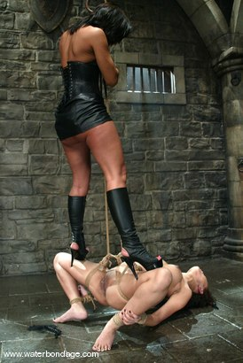 Photo number 5 from Sandra Romain and Annie Cruz shot for Water Bondage on Kink.com. Featuring Sandra Romain and Annie Cruz in hardcore BDSM & Fetish porn.