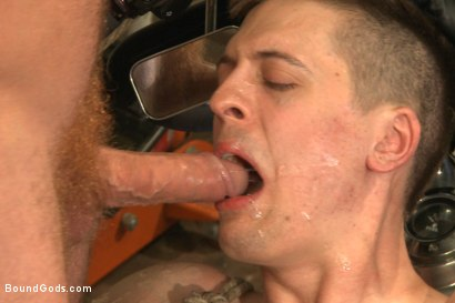 """Photo number 14 from Officer Maguire """"I smell fear"""" shot for Bound Gods on Kink.com. Featuring Connor Maguire and Tyler Rush in hardcore BDSM & Fetish porn."""