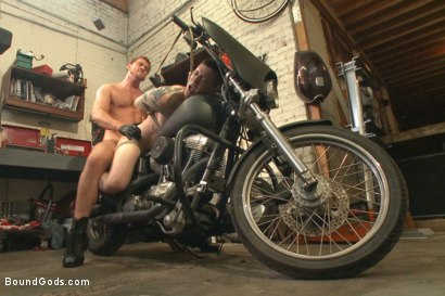 """Photo number 13 from Officer Maguire """"I smell fear"""" shot for Bound Gods on Kink.com. Featuring Connor Maguire and Tyler Rush in hardcore BDSM & Fetish porn."""