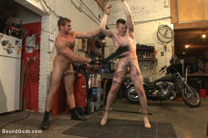 """Photo number 7 from Officer Maguire """"I smell fear"""" shot for Bound Gods on Kink.com. Featuring Connor Maguire and Tyler Rush in hardcore BDSM & Fetish porn."""