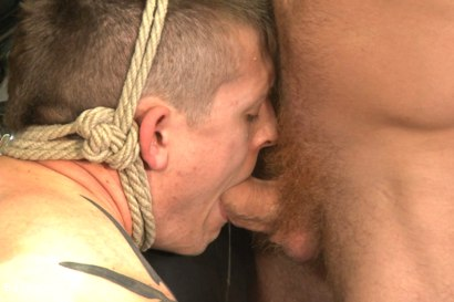 """Photo number 9 from Officer Maguire """"I smell fear"""" shot for Bound Gods on Kink.com. Featuring Connor Maguire and Tyler Rush in hardcore BDSM & Fetish porn."""
