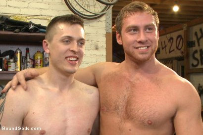 "Photo number 15 from Officer Maguire ""I smell fear"" shot for Bound Gods on Kink.com. Featuring Connor Maguire and Tyler Rush in hardcore BDSM & Fetish porn."