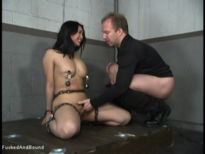Photo number 7 from Mika And Her Dinner Date shot for Brutal Sessions on Kink.com. Featuring Brandon Iron and Mika Tan in hardcore BDSM & Fetish porn.