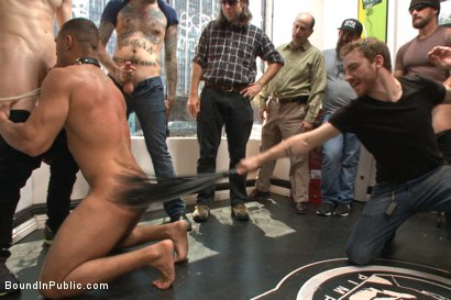 Photo number 9 from Muscled whore gets publicly fucked and doused with cum  shot for Bound in Public on Kink.com. Featuring Jessie Colter, Brock Avery and Seven Dixon in hardcore BDSM & Fetish porn.