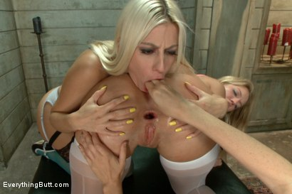 Photo number 6 from Anal Perversion: Two Blonde Ass Sluts  shot for Everything Butt on Kink.com. Featuring Jessie Volt, Dana DeArmond and Candice Dare in hardcore BDSM & Fetish porn.
