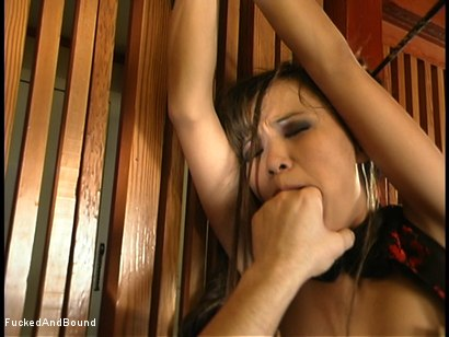 Photo number 9 from Fucking in the Dojo shot for  on Kink.com. Featuring Mia Smiles and Chris Cannon in hardcore BDSM & Fetish porn.