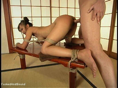 Photo number 13 from Fucking in the Dojo shot for  on Kink.com. Featuring Mia Smiles and Chris Cannon in hardcore BDSM & Fetish porn.