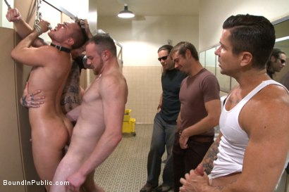 Photo number 11 from Cruising for a Gangbang  shot for Bound in Public on Kink.com. Featuring Jimmy Bullet, Leo Sweetwood and Trenton Ducati in hardcore BDSM & Fetish porn.