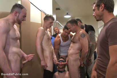 Photo number 13 from Cruising for a Gangbang  shot for Bound in Public on Kink.com. Featuring Jimmy Bullet, Leo Sweetwood and Trenton Ducati in hardcore BDSM & Fetish porn.