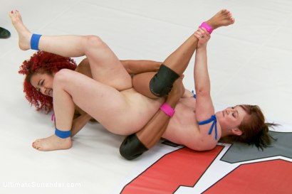Photo number 11 from Rookie Cup Champion takes on Wrangler Team Captain shot for Ultimate Surrender on Kink.com. Featuring Cheyenne Jewel and Daisy Ducati in hardcore BDSM & Fetish porn.