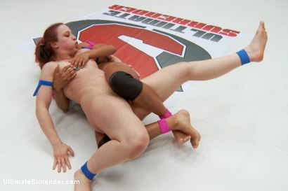Photo number 13 from Rookie Cup Champion takes on Wrangler Team Captain shot for Ultimate Surrender on Kink.com. Featuring Cheyenne Jewel and Daisy Ducati in hardcore BDSM & Fetish porn.
