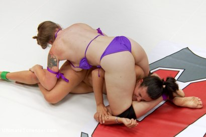 Photo number 9 from Our Top Ranked Wrestlers takes on our Biggest mouth shot for Ultimate Surrender on Kink.com. Featuring Mistress Kara and Penny Barber in hardcore BDSM & Fetish porn.