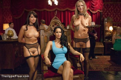 Photo number 1 from Breaking In the New Slave shot for The Upper Floor on Kink.com. Featuring Karlo Karrera, Ava Dalush, Isis Love and Alina Long in hardcore BDSM & Fetish porn.