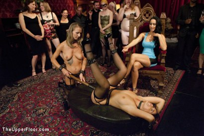 Photo number 3 from Breaking In the New Slave shot for The Upper Floor on Kink.com. Featuring Karlo Karrera, Ava Dalush, Isis Love and Alina Long in hardcore BDSM & Fetish porn.