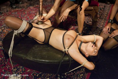 Photo number 4 from Breaking In the New Slave shot for The Upper Floor on Kink.com. Featuring Karlo Karrera, Ava Dalush, Isis Love and Alina Long in hardcore BDSM & Fetish porn.