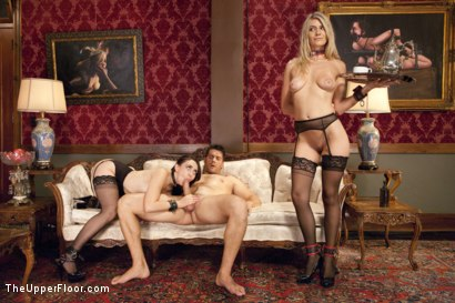 Photo number 12 from Lovely Slave Twin Set Trained to Please our Guest shot for The Upper Floor on Kink.com. Featuring Ramon Nomar, Amanda Tate and Mandy Muse in hardcore BDSM & Fetish porn.