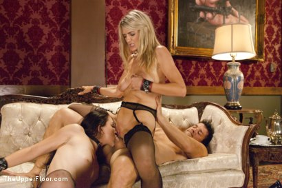 Photo number 20 from Lovely Slave Twin Set Trained to Please our Guest shot for The Upper Floor on Kink.com. Featuring Ramon Nomar, Amanda Tate and Mandy Muse in hardcore BDSM & Fetish porn.