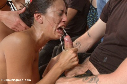 Photo number 7 from Loser Humiliated by the audience for  SUCKING so bad shot for Public Disgrace on Kink.com. Featuring Rilynn Rae, Lyla Storm, Mickey Mod and Ariel X in hardcore BDSM & Fetish porn.