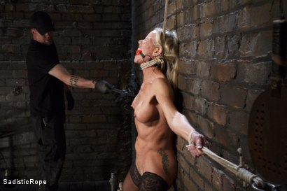 Photo number 11 from Masochistic MILF  shot for Sadistic Rope on Kink.com. Featuring Simone Sonay in hardcore BDSM & Fetish porn.